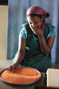 Sorting Lentils (Photo courtesy of AddisEats)