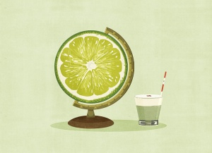 The world as a lime.